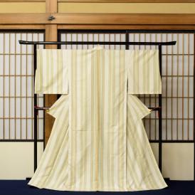 大野純子 紬織着物「秋の香」 撮影:林口哲也