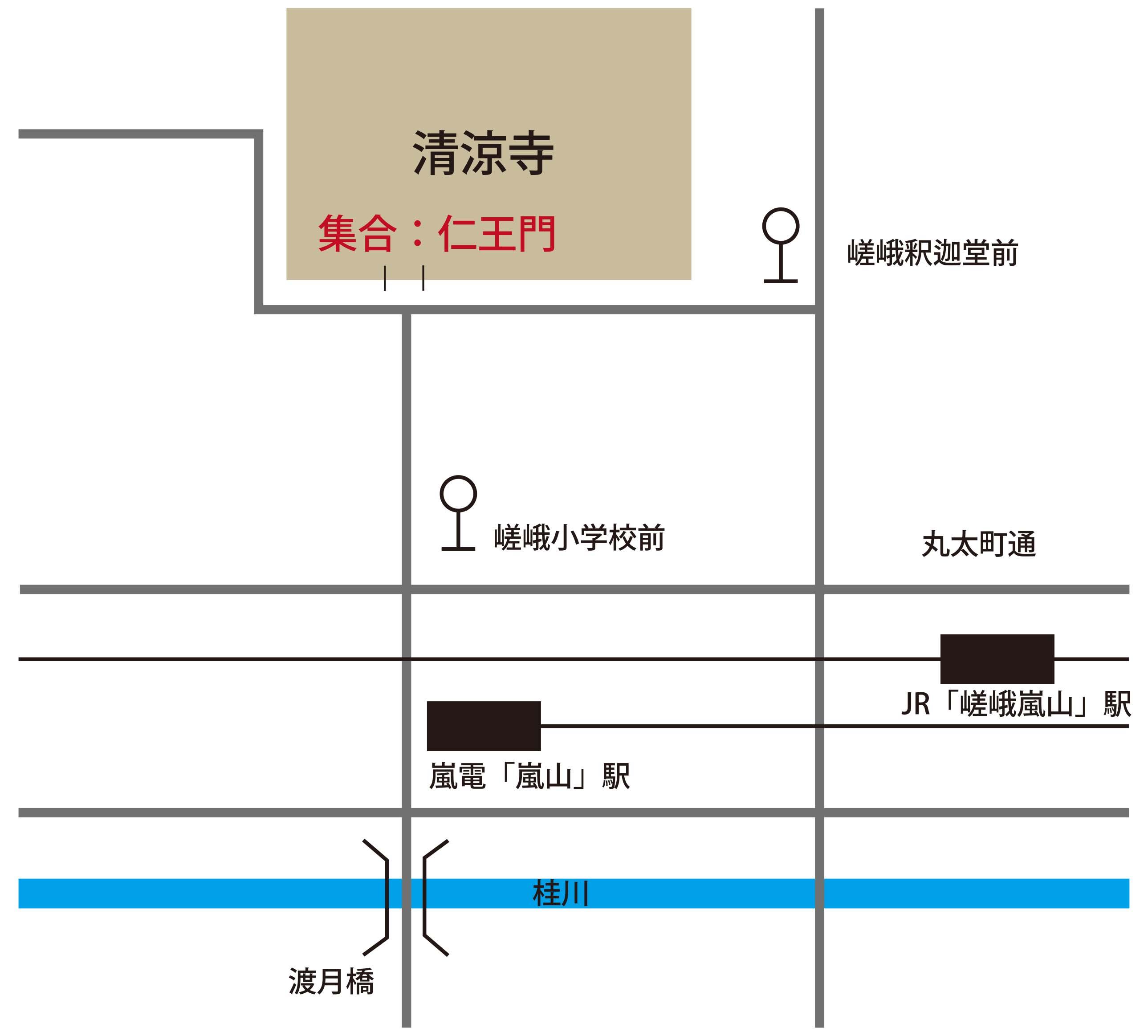 清凉寺地図
