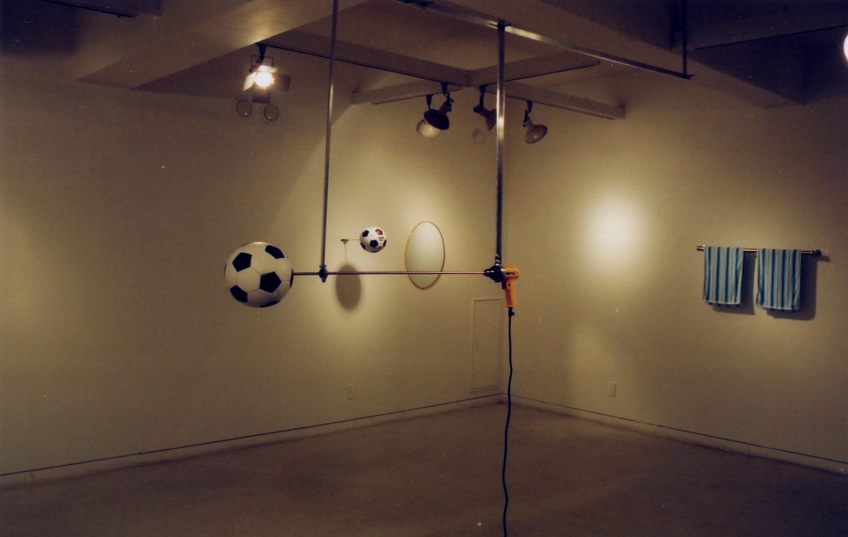 斉と公平太 個展展示風景 1999年