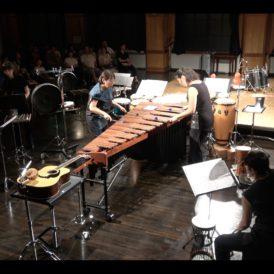 Cosmo Projekt 2018 『Zeitgenössische Musik -ゲンダイの打楽器オンガクvol.2-』@京都芸術センターでの演奏風景