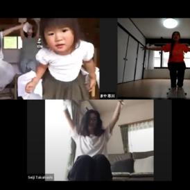 3回目動画では、エリンギさん、タカカーンさんをさそってzoomで白鳥の湖イスダンスをおどる