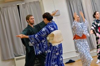 稽古の様子(日本舞踊)