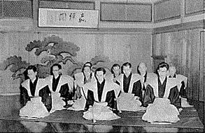 昭和28年頃の舞台の様子(現在の京都芸術センター大広間)
