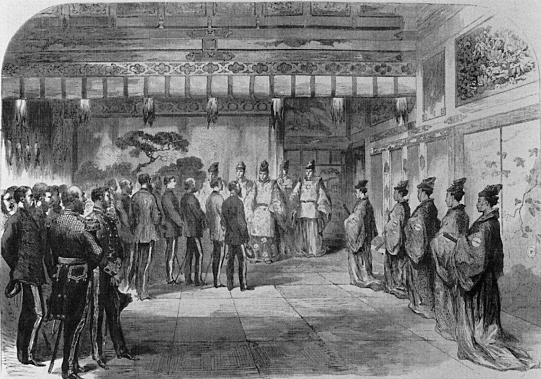 英紙に掲載されたイギリス公使パークスの将軍慶喜拝謁の模様(Illustrated London News, 24 Aug.1867)