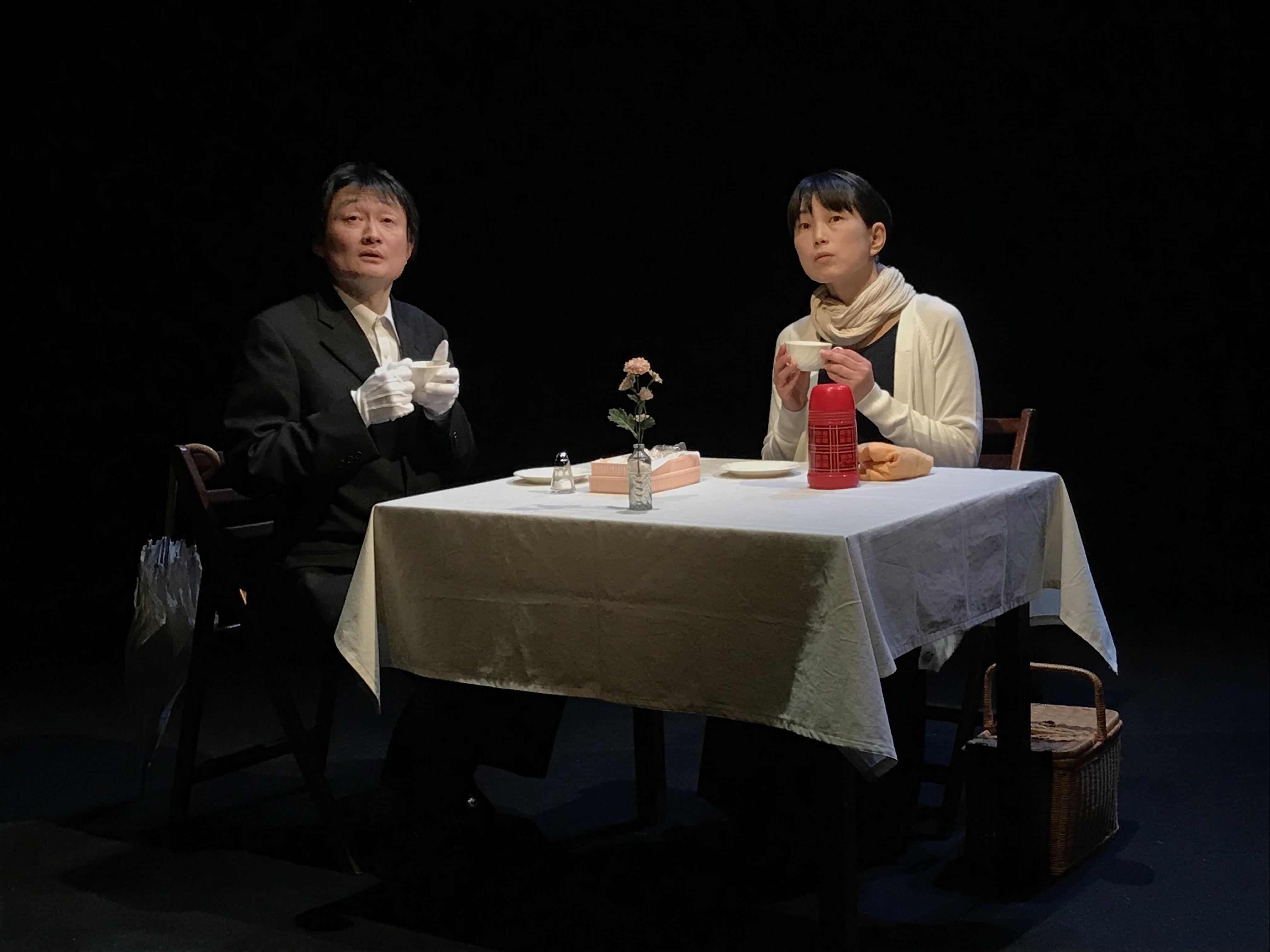 広田ゆうみ+二口大学 別役実・作『クランボンは笑った』 (2019年4月 人間座スタジオにて)