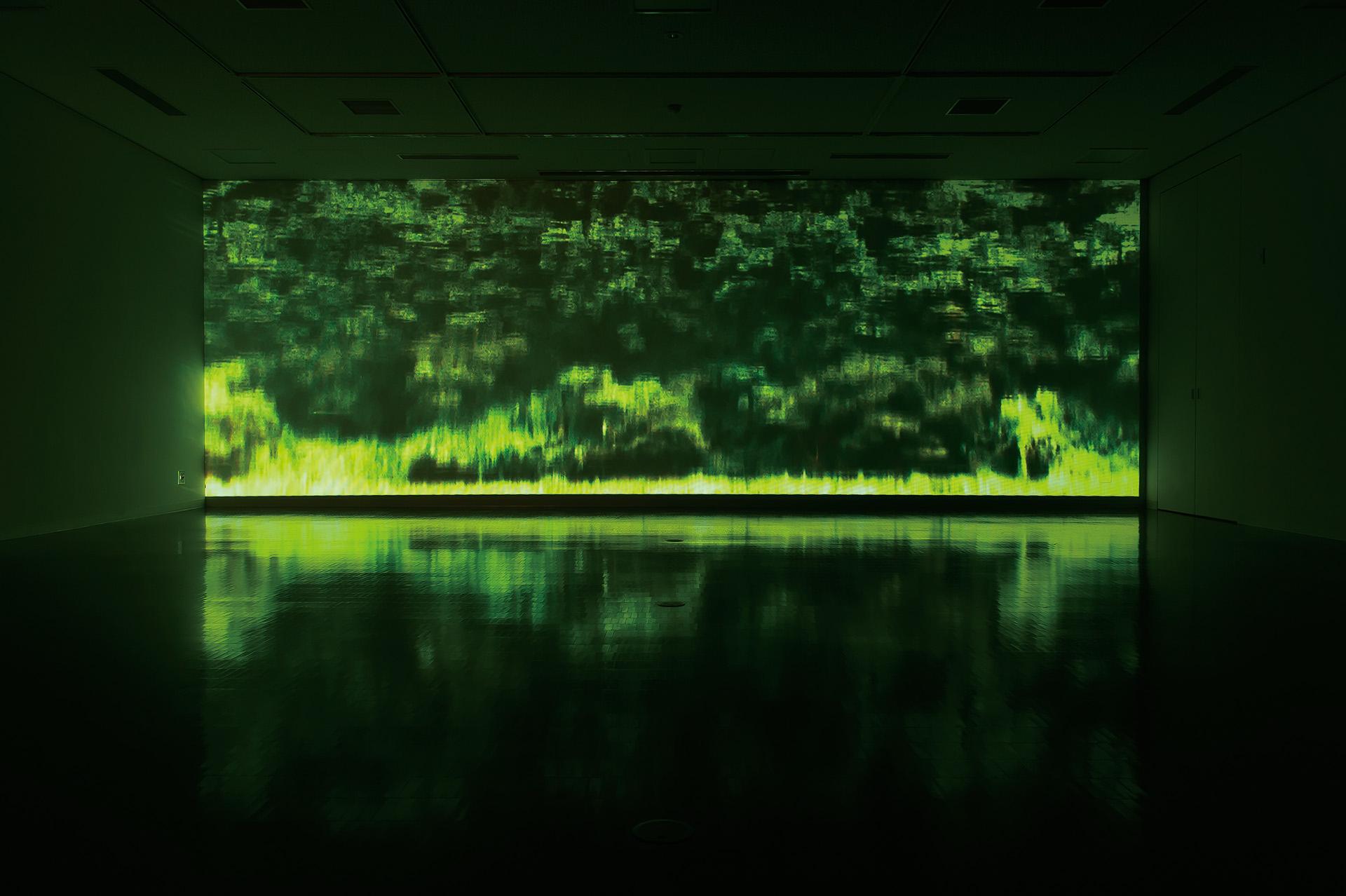 水野勝規「reflection」 2012年 ビデオインスタレーション 撮影:豊永 政史