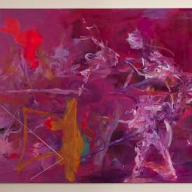 「そして、それは静寂と喧噪からやって来る。」  2013年/mixed media on canvas/194.0×259.0cm (撮影 田村和隆)