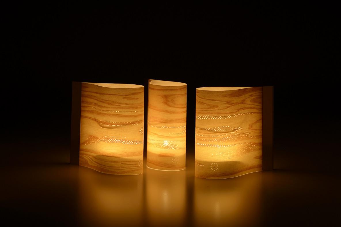 西村友禅彫刻店/西村武志 《木灯 Komorebi》