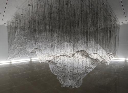 大西康明 《体積の裏側 RG》(Rice Gallery, Houston, アメリカ, 2012)